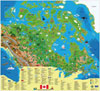 Illustrated Canada Map for Kids