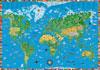 Deskpad Illustrated World Map For Kids