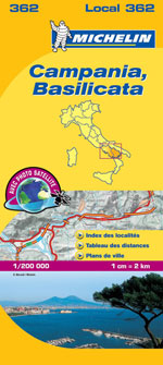 Carte #362 Campanie, Basilicate - Campania & Basilicate