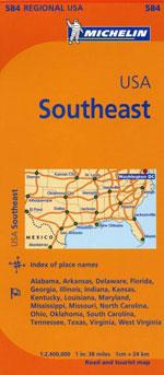 Carte #584 Etats-Unis Sud-Est