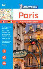 Atlas de Poche Michelin #62 Paris Par Arrondissements