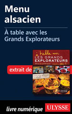 Menu alsacien - À table avec les Grands Explorateurs