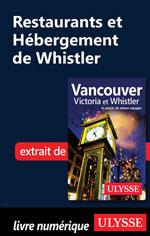 Restaurants et Hébergement de Whistler