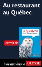 Au restaurant au Québec (Guide de conversation)