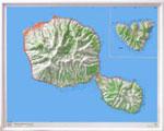 Carte 3d Tahiti