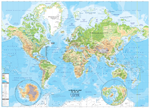 Carte Monde en relief / Physical World Map