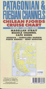 Patagonian & Fuegian Channels: Chilean Fjords Cruise Chart