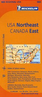 Carte #583 USA North Eastern, Eastern Canada