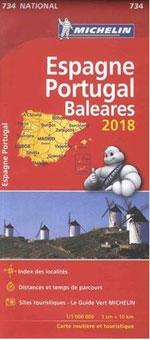 Carte #734 Espagne, Portugal & Baléares 2018