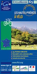 Ign Cycloguide 24 Circuits - les Hautes-Pyrénées à Vélo