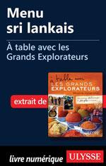 Menu sri lankais - À table avec les Grands Explorateurs