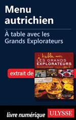 Menu autrichien - À table avec les Grands Explorateurs