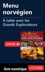 Menu norvégien - À table avec les Grands Explorateurs