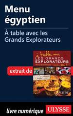 Menu égyptien - À table avec les Grands Explorateurs
