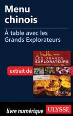 Menu chinois - À table avec les Grands Explorateurs