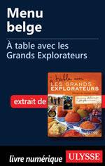 Menu belge - À table avec les Grands Explorateurs