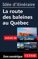 Idée d'itinéraire - La route des baleines au Québec