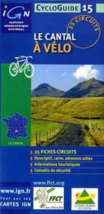 Ign Cycloguide 25 Circuits - Cantal à Vélo