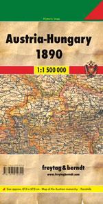 L'Autriche-Hongrie en 1890 - Austria & Hungary in 1890