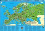Carte d'Europe Illustrée Pour Enfants