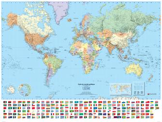 Carte Du Monde Politique Plastifiee