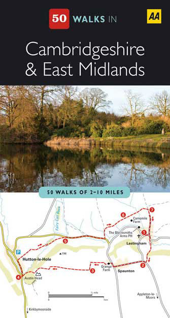 50 Walks in Cambridgeshire & East Midlands, 2nd Ed.