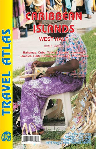 Caribbean Islands West Half Atlas - Atlas des Caraïbes Ouest