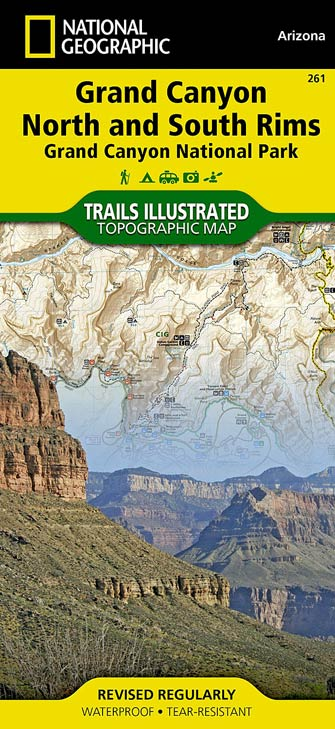 National Geographic Grand Canyon Map