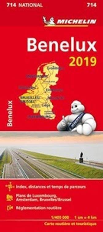 Carte #714 Benelux: Pays-Bas, Belgique, Luxembourg 2019