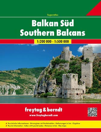 Atlas Spiralé Sud Balkan - South Balkan Spiralbound Atlas