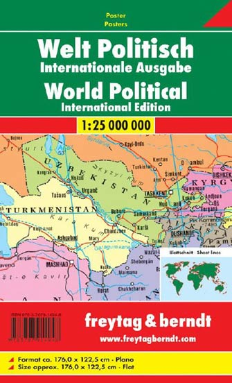 Poster Monde Politique - World Political Wall Map