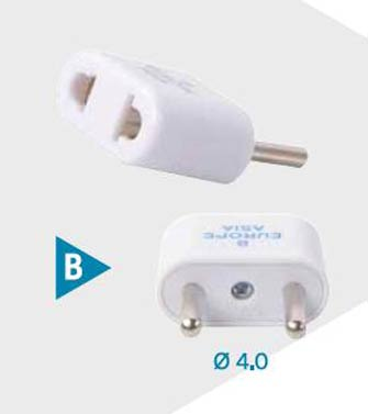 Adaptateur Europe & Asie (B) - Adapter For Europe & Asia