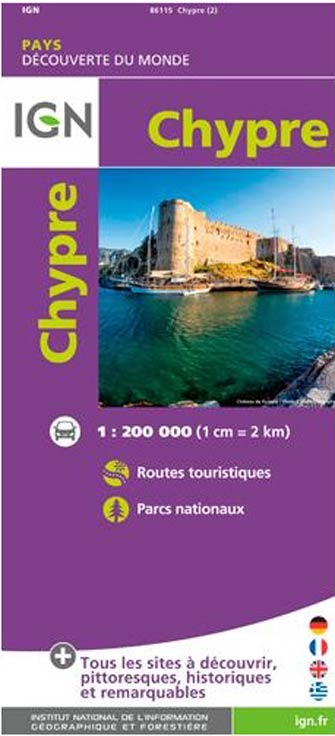 Carte Ign Chypre.Ign 86115 Chypre Cyprus Carte Ign Serie Europe