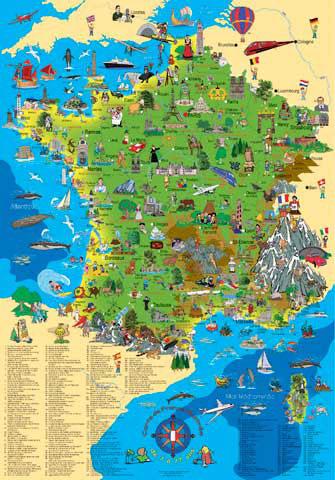 Carte De France Illustrée Pour Enfants Schoenhoff Krueger