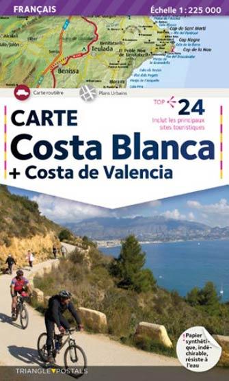 Costa De Valencia Espagne Carte.Costa Blanca Et La Costa De Valencia Carte Triangle Map