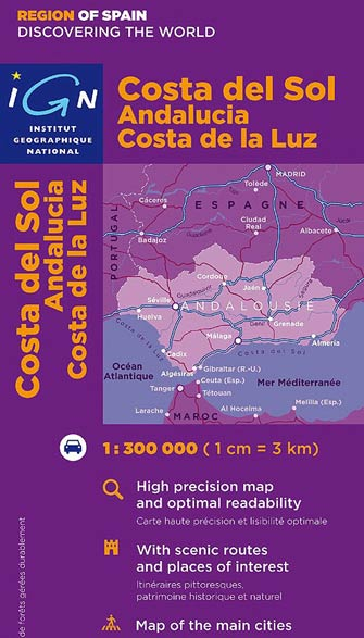 Carte Geographique Andalousie.Ign 86219 Andalousie Carte Ign Serie Europe