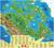Carte du Canada illustrée pour enfants