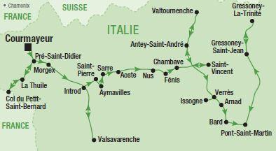 Carte Val Daoste Italie.Une Bouffee D Air Alpin Dans Le Val D Aoste